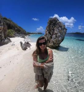 The beach of a Coron island